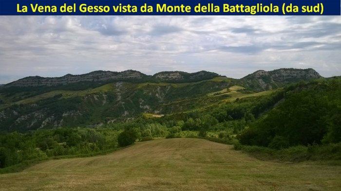 Vena del Gesso vista da Monte della Battagliola (GIU/2016)
